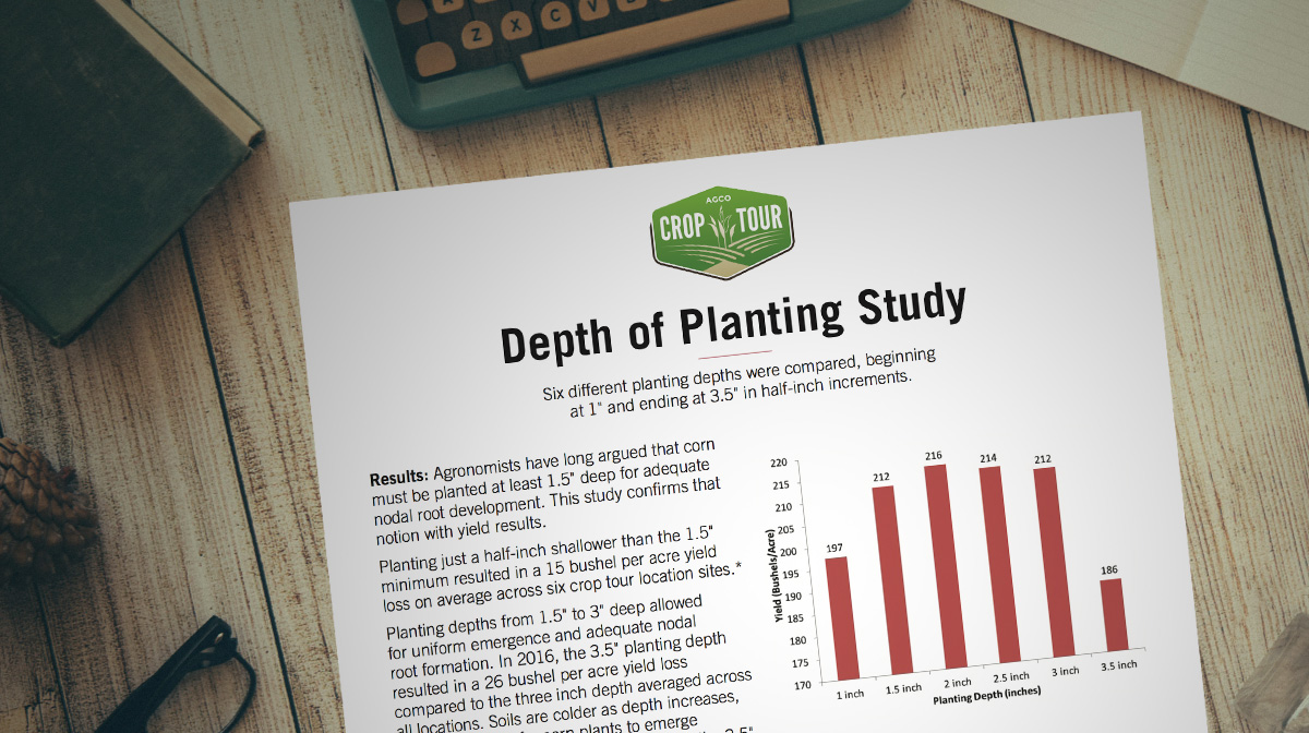 Depth of Planting Study