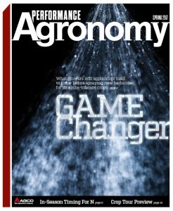 Spring 2017 Performance Agronomy Cover
